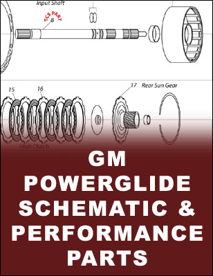 tcs products Powerglide Valve Body Parts Breakdown powerglide transmission schematic