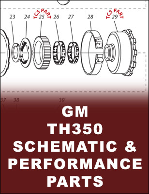 tcs products rh tcsproducts com GM Turbo 350 Transmission Diagram gm turbo 350 transmission parts