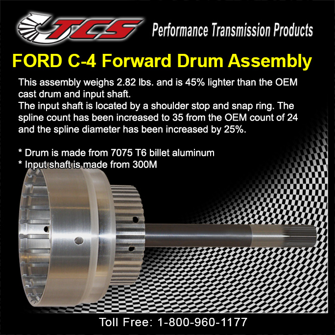 Ford C4 Aluminum Drum & Shaft Assembly