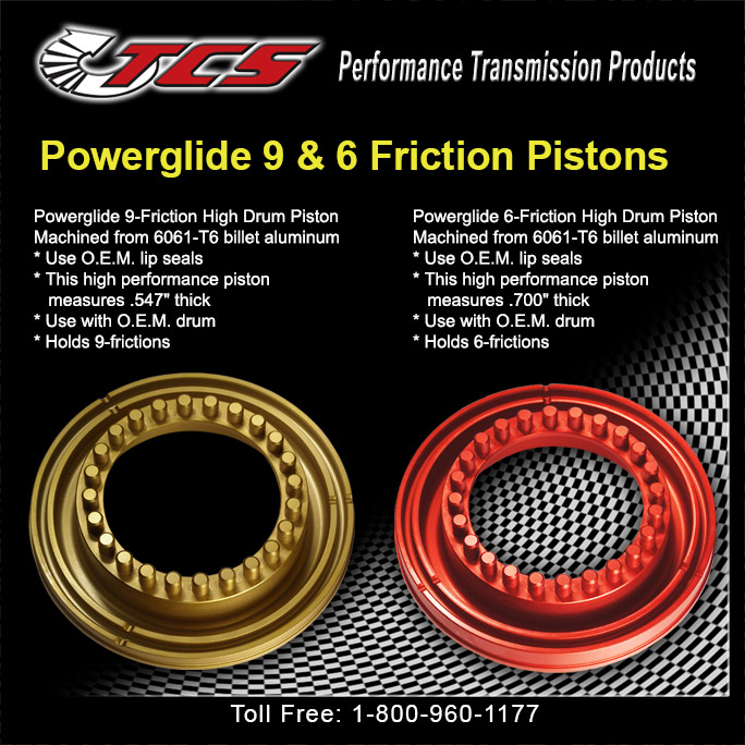 GM Powerglide 9 & 6 Friction Pistons